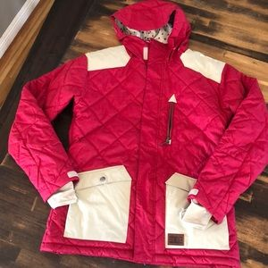 Men's DC snowboard jacket red like new